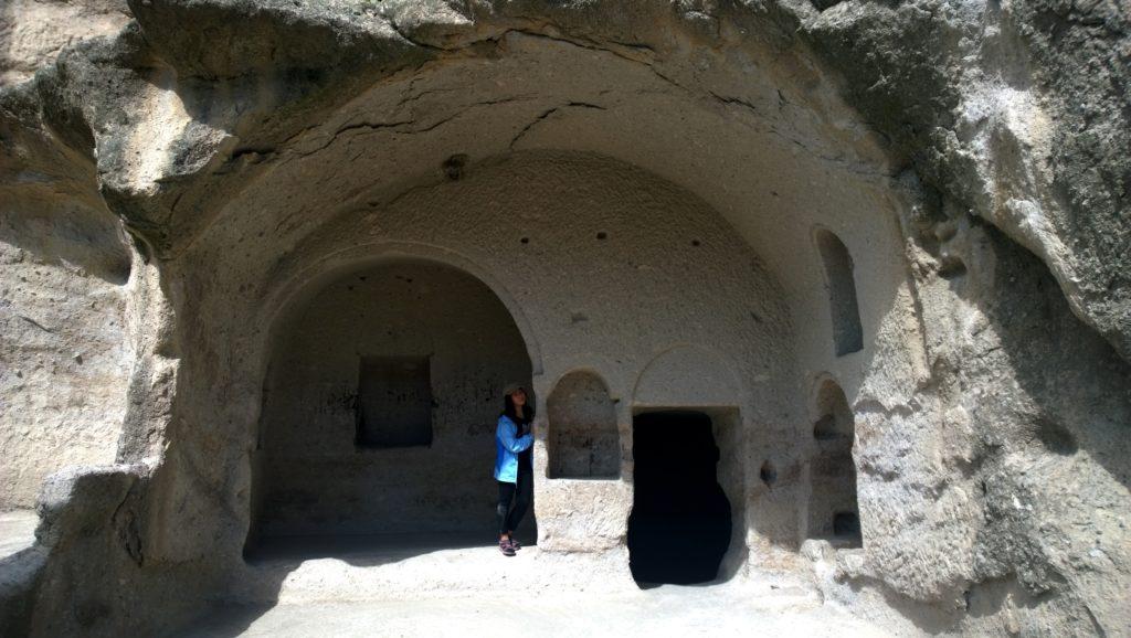 At the Vardzia Cave Monastery