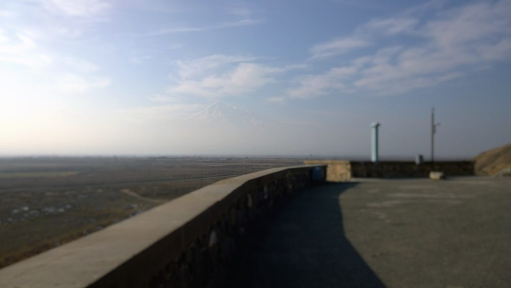 Mt. Ararat hiding through the clouds