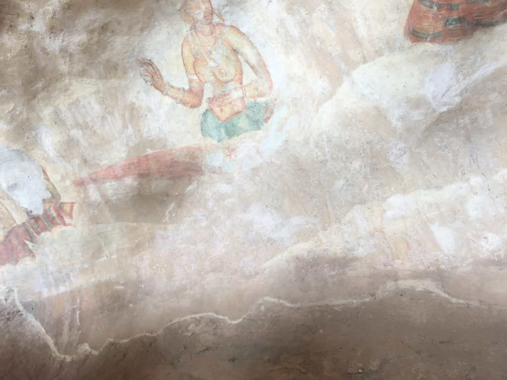 Few of the 1500 year old frescoes