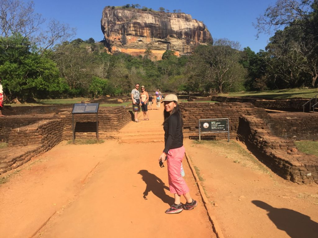 On the way to the entrance of Sigiriya