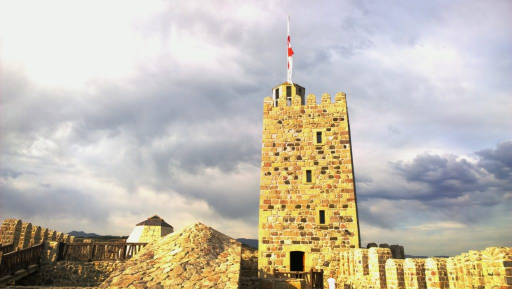 At the top of Rabati Castle
