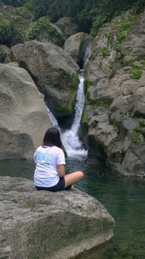 Contemplating through the relaxing waters of Nalus Falls