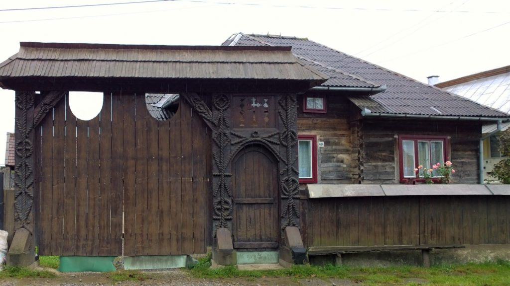 Traditional wooden gates in Maramures